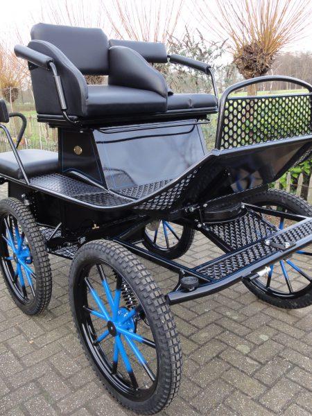 Recreatiewagen zwart/blauw