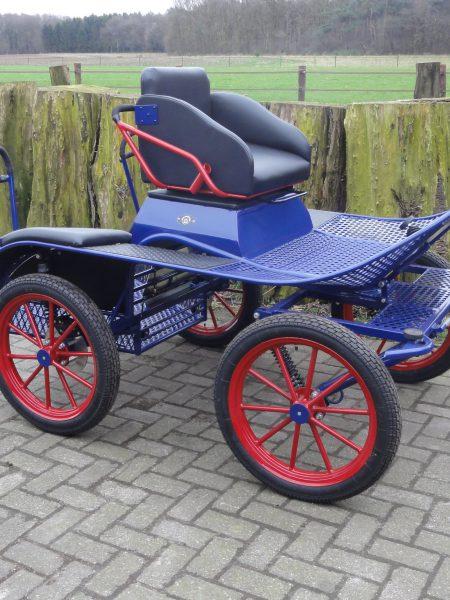 Pony Marathonwagen paars/blauw